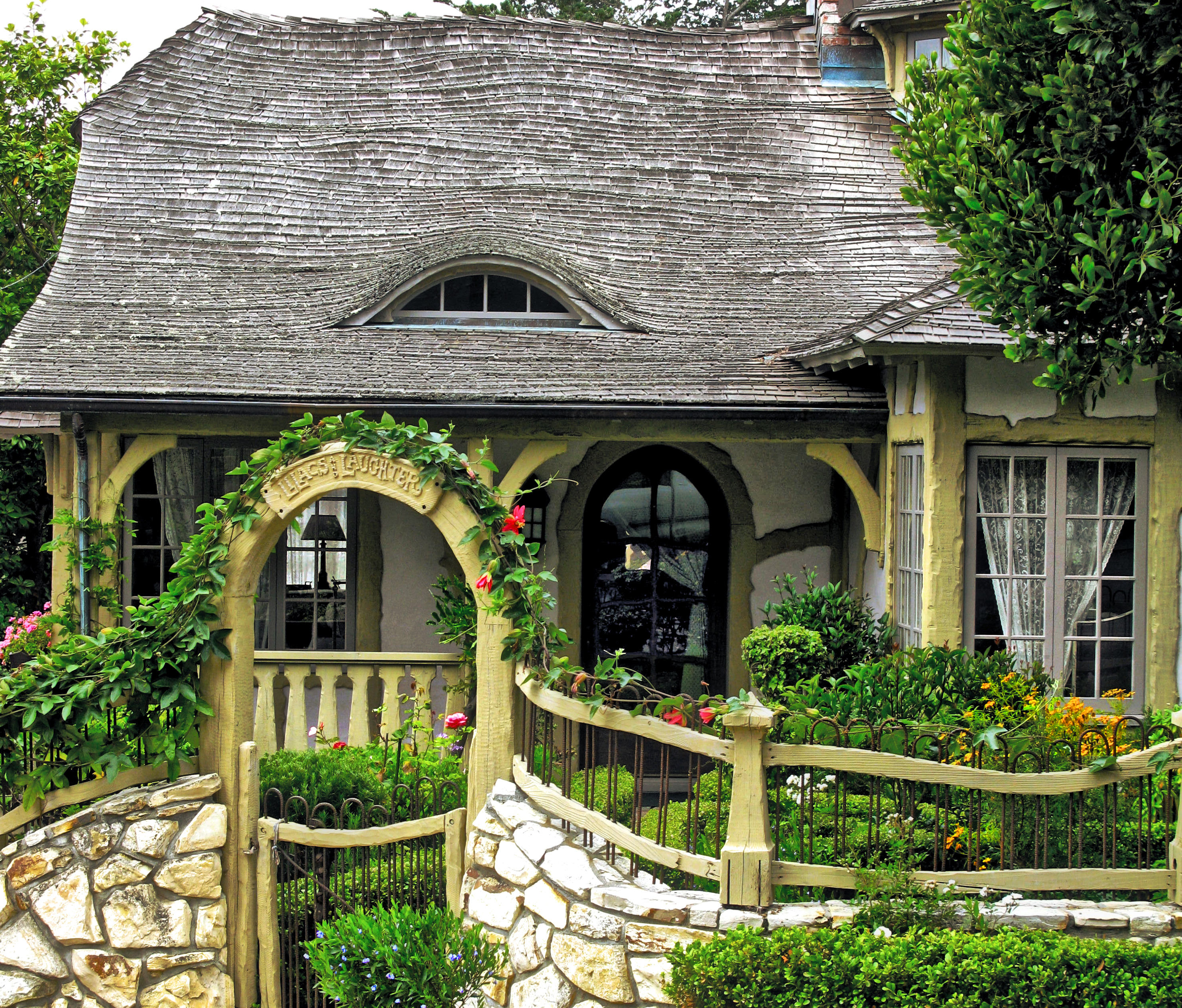 And That Fence With Its Stone Base Ironwork Wood Detail Is Really Icing On The Cake I See No Others Like It In Carmel