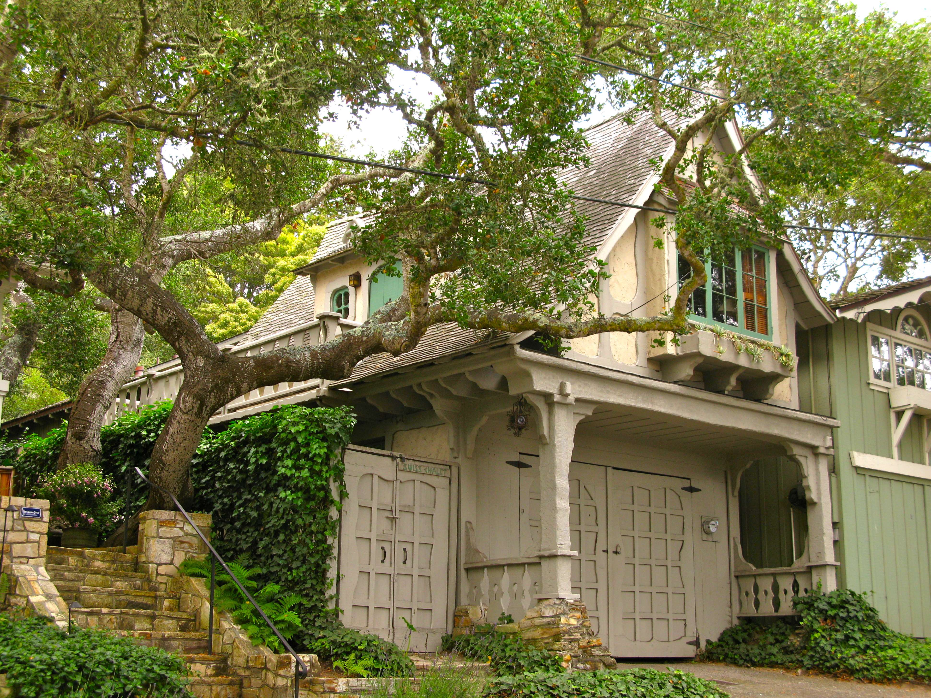Hugh comstock s swiss chalet a fairytale cottage in for Carmel house