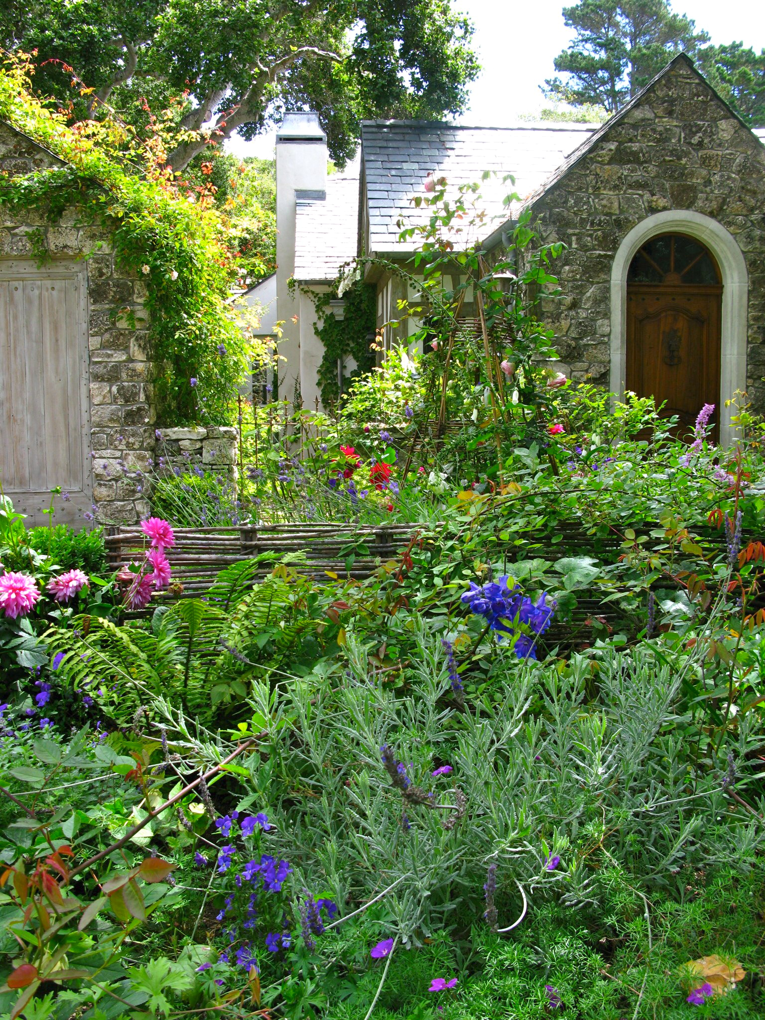 I AM INVITED TO TOUR BIDDLESTONE COTTAGE AND GARDEN