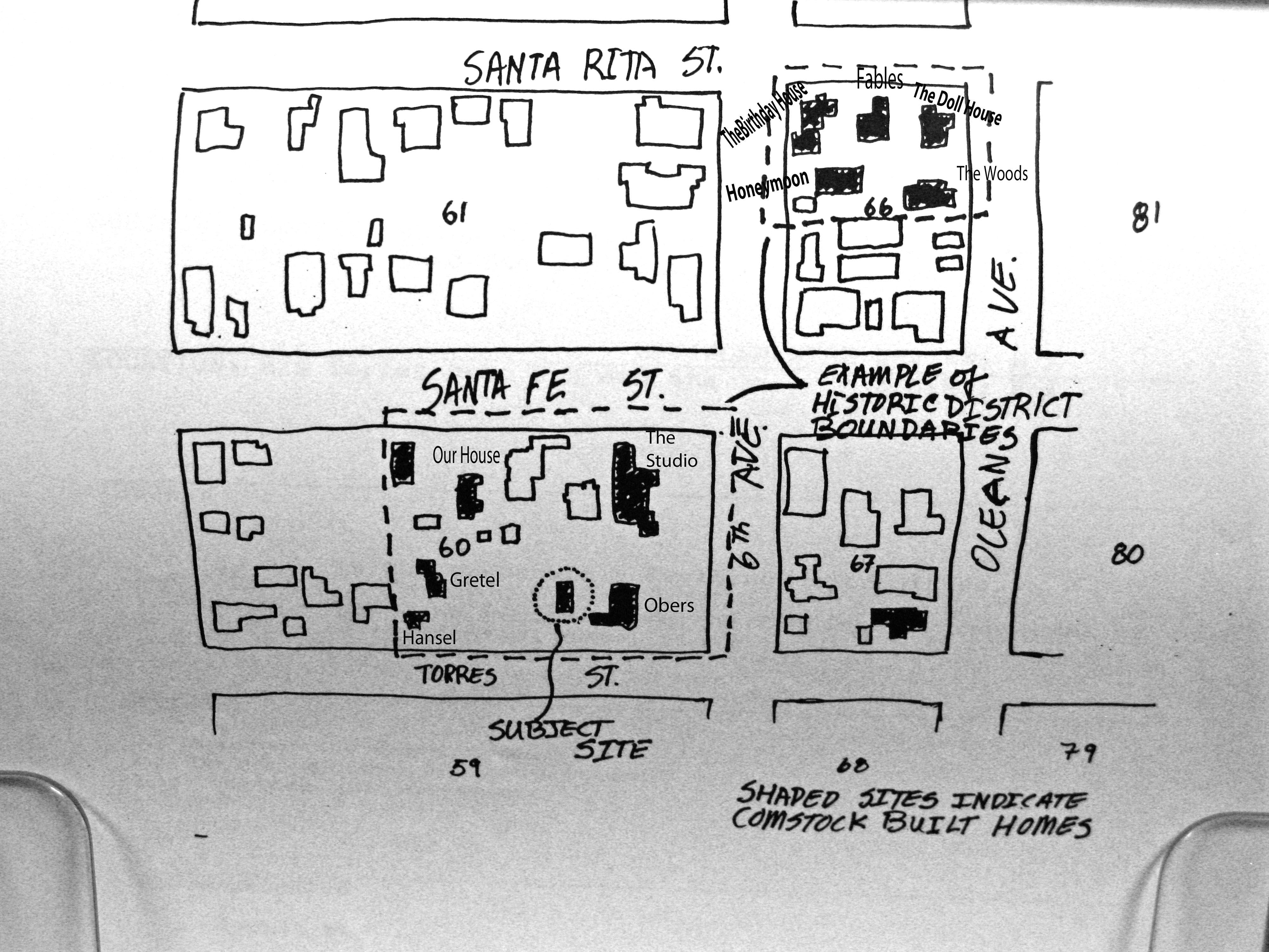 HUGH COMSTOCK FLOOR PLAN FOR THE BIRTHDAY HOUSE – Carmel Cottage House Plans