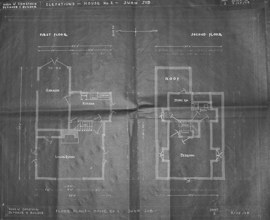hugh comstock- floor plan for the birthday house   once upon a time