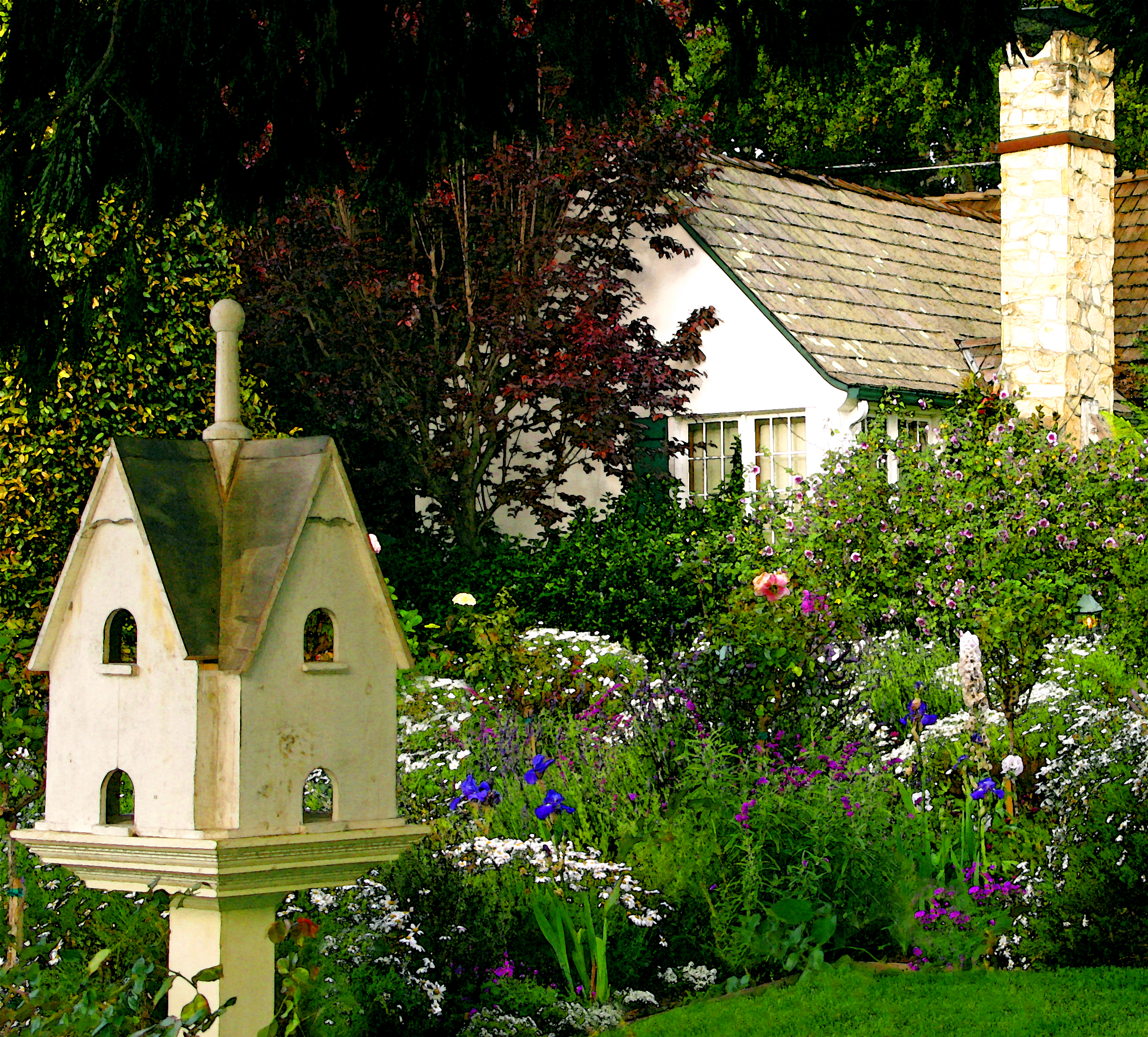 CARMEL'S COTTAGE GARDENS- ADDING FOCAL POINTS