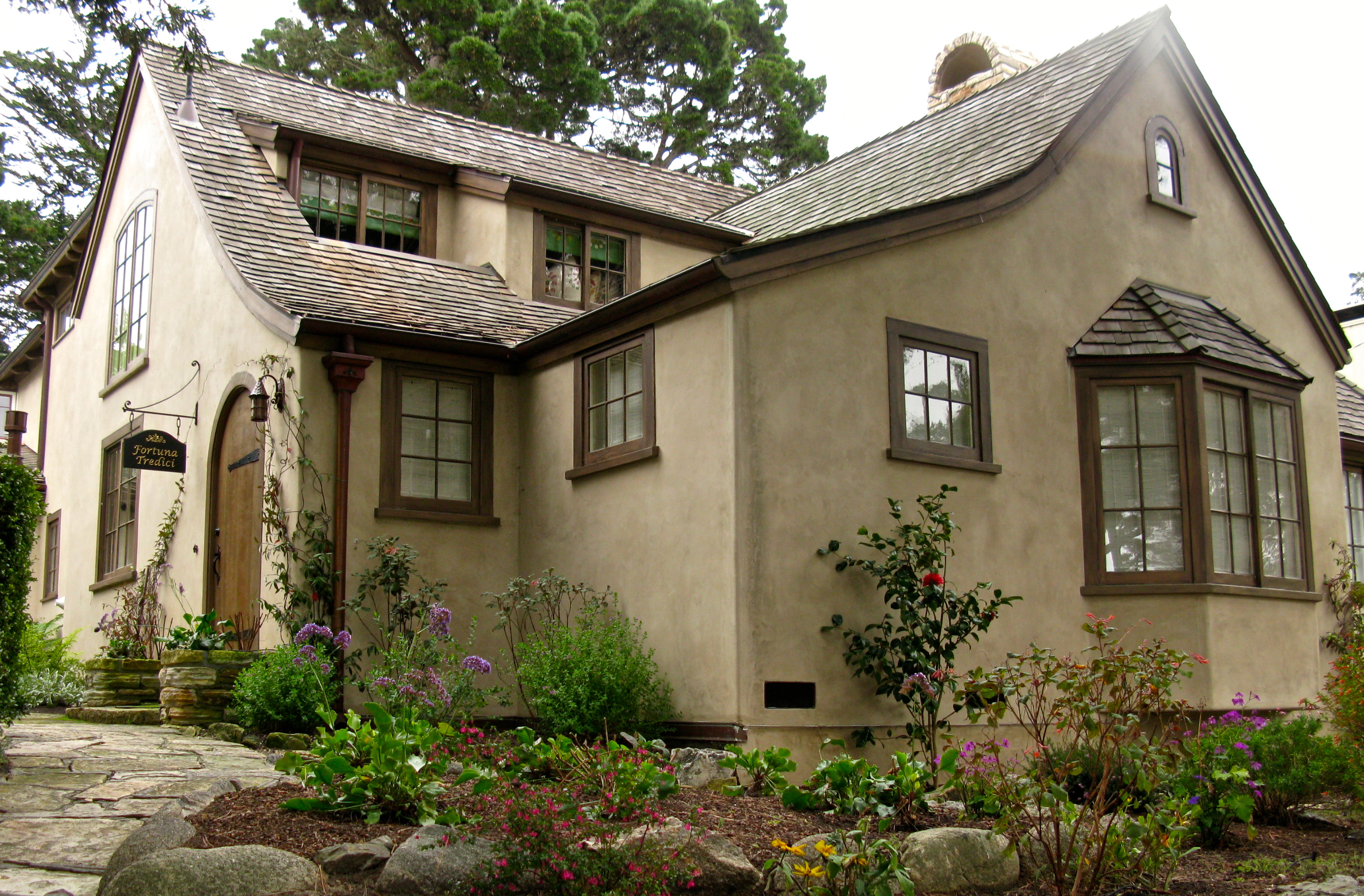 The ten winkel house on carmel s historic register once for Small tudor homes
