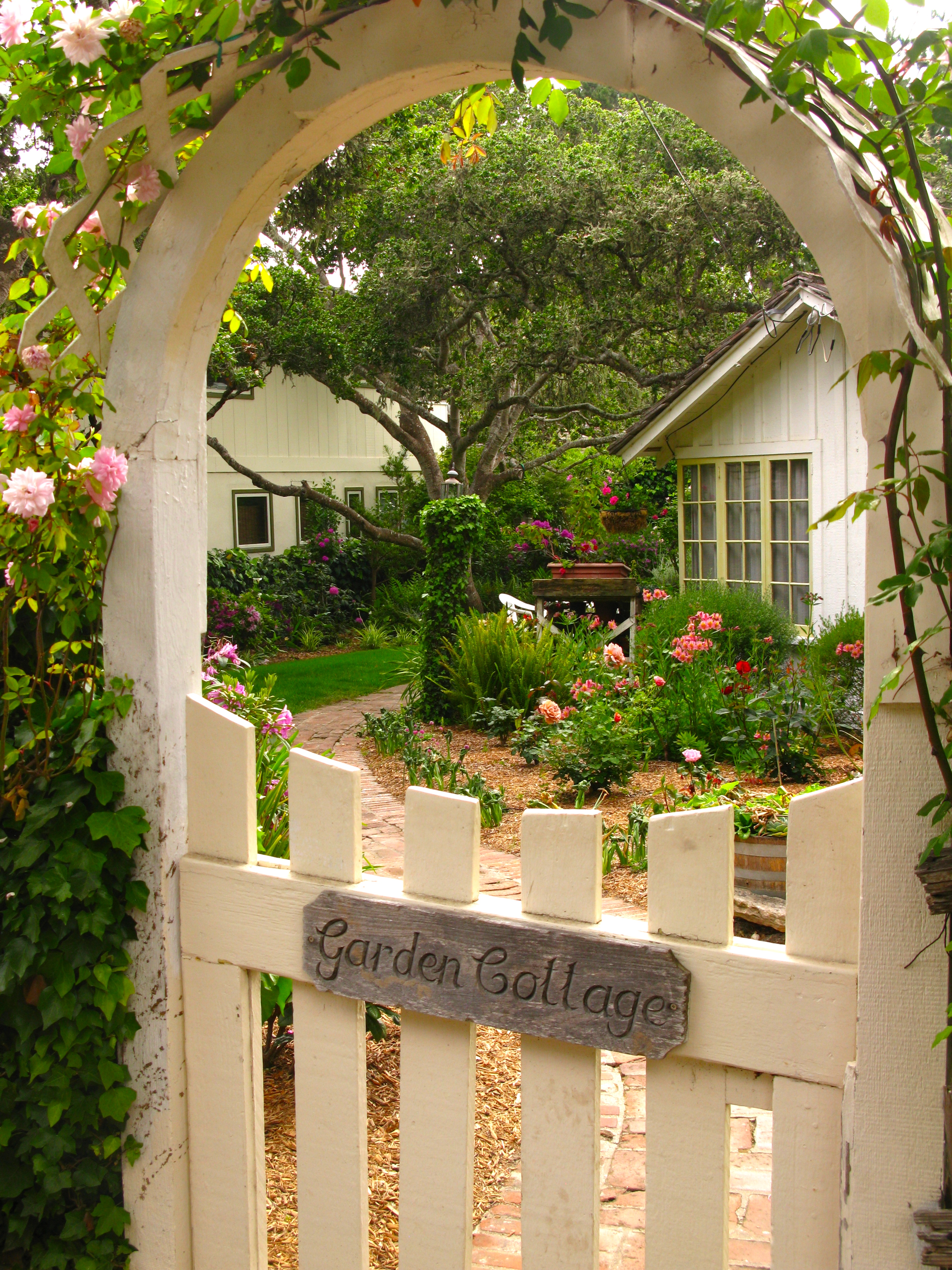 Garden cottage once upon a time tales from carmel by for Rose cottage