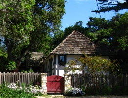 Nelson-Krough Cottage built by Hugh Comstock- On Camel's Register of Historic Homes